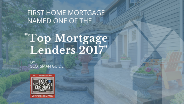 First Home Named Top Mortgage Lender