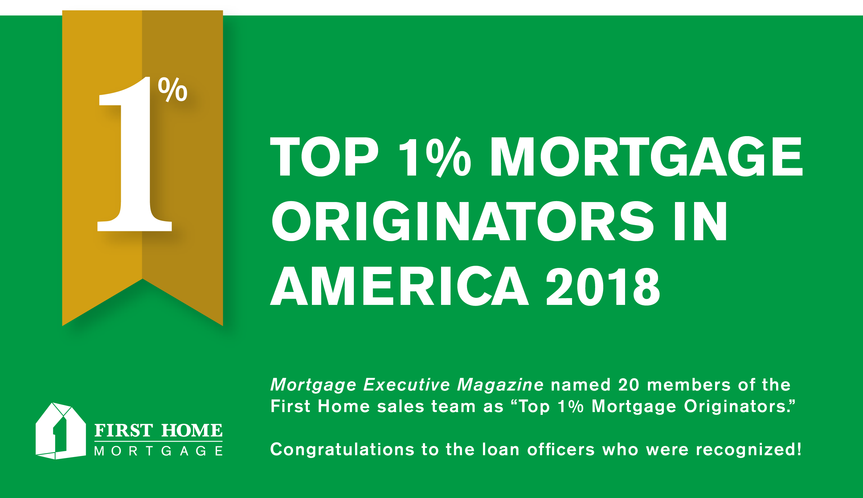 Top Loan Originators in the Country 2018- Mortgage Executive Magazine