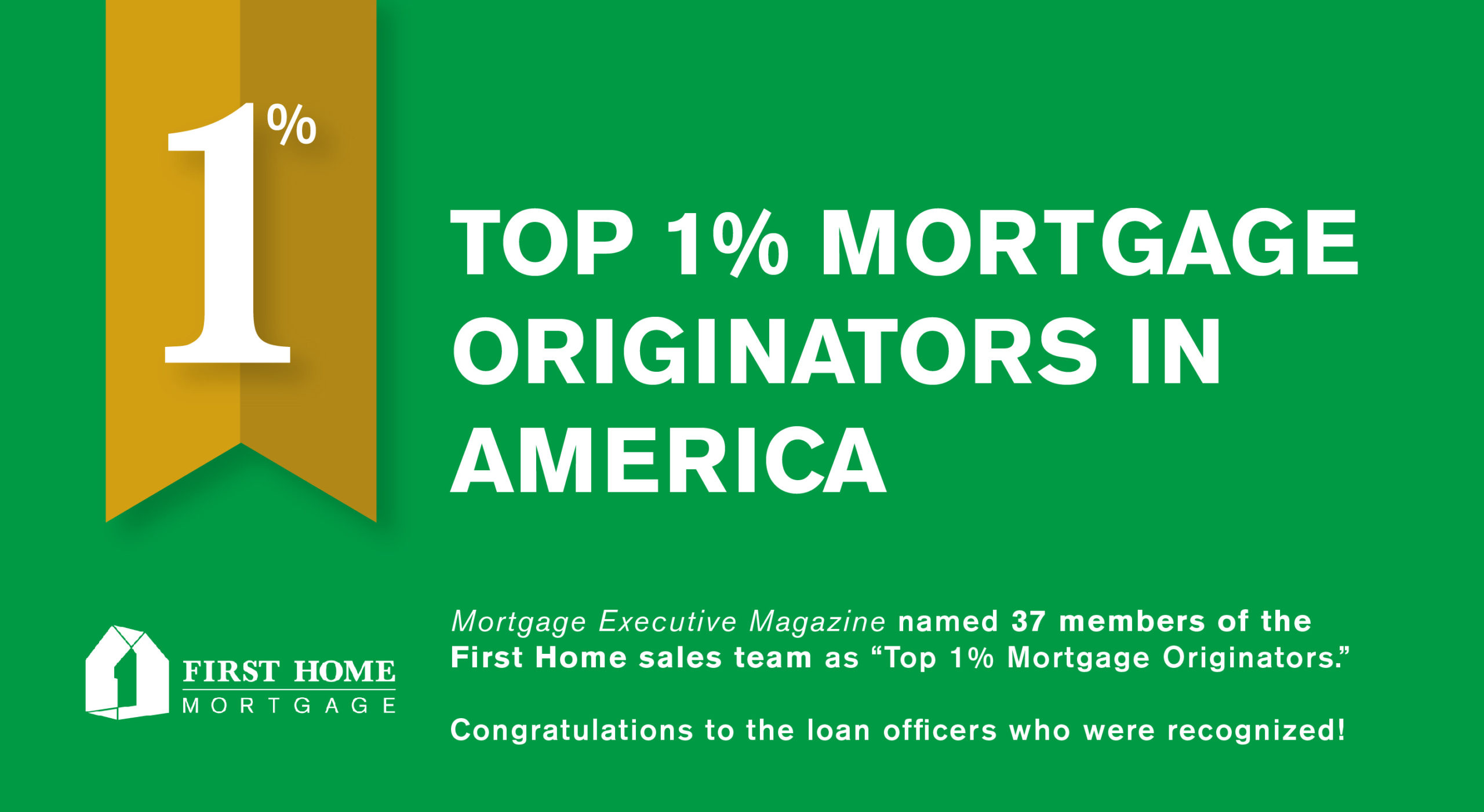 Top 1% Loan Originators in the Country for 2017 – Mortgage Executive Magazine